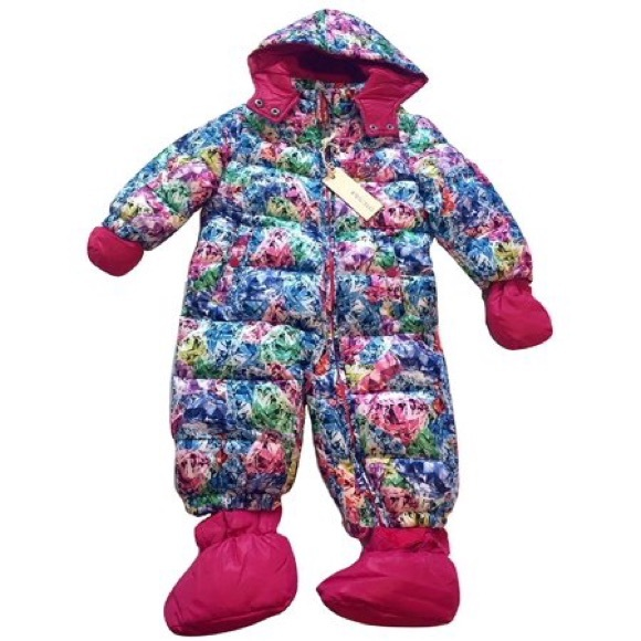Diesel One Pieces Baby Girls Insulated Hooded Pram
